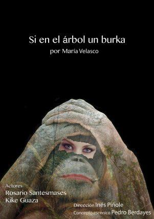 si en el árbol, un burka de María Velasco